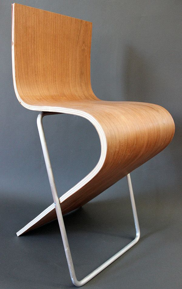 A Chair Created From The Process Of Bending Layers Of