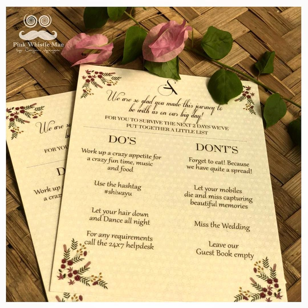 notes for the wedding! 📝