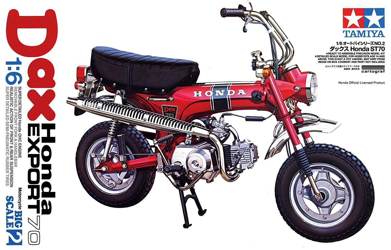 Amazon Com Tamiya 1 6 Honda Dax Export 70 Motorcycle Model Kit Toys Games Motorcycle Motorcycle Model Motorcycle Model Kits