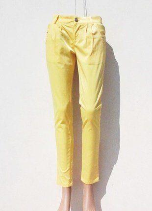 8eec79aa770 Pantalon Femme Freesia Collection Jaune citron Taille 36