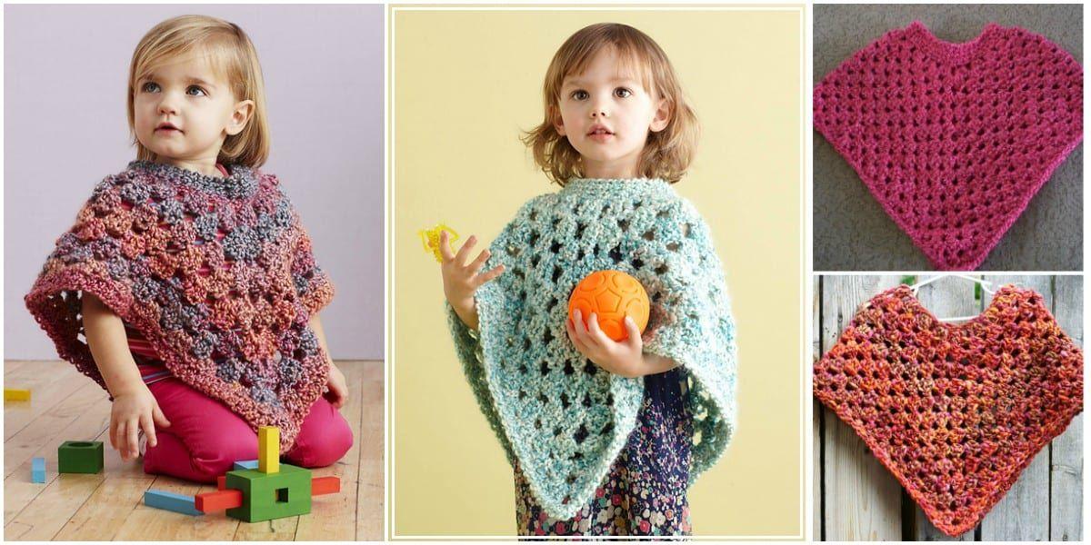 Easy Baby Crochet Poncho Free
