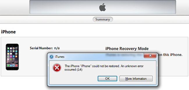 How To Fix Itunes Error 14 When Restore Iphone Iphone Dummies Book Itunes