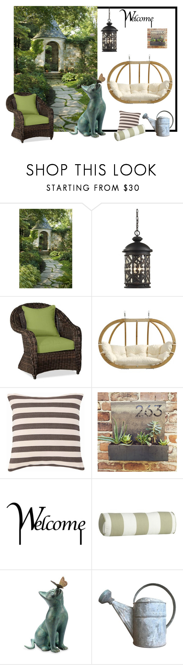 """My garden's corner!"" by colchico ❤ liked on Polyvore featuring interior, interiors, interior design, home, home decor, interior decorating, ELK Lighting, Pottery Barn, Amazonas and Fresh American"