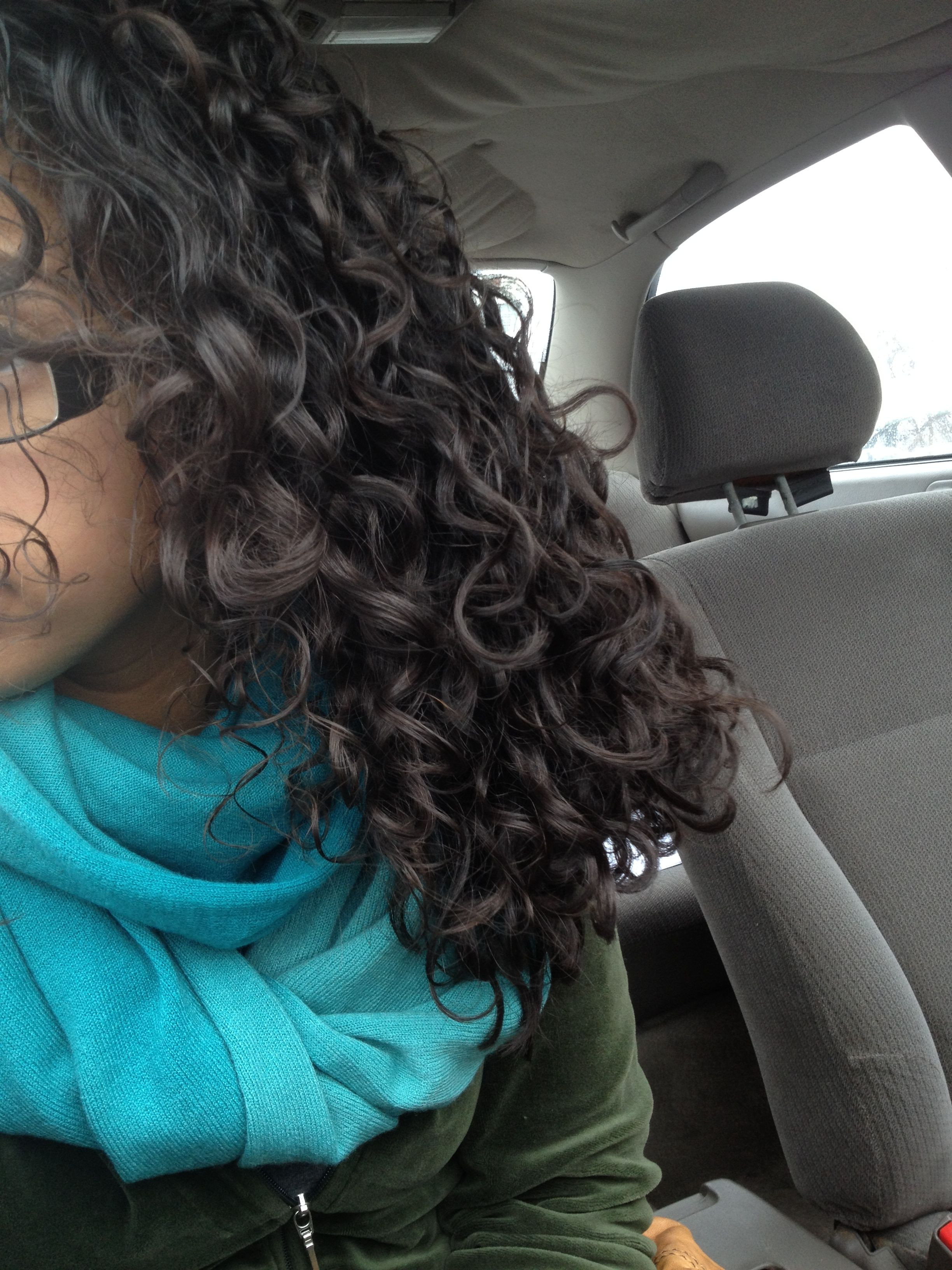 Day 1 Of The Curly Girl Method Hair Curly Girl Curly