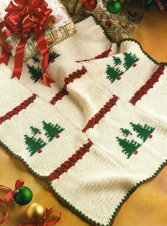 X028 Crochet Pattern Only Tree And Night Before By Beadedbundles 3 95 Christmas Crochet Blanket Christmas Crochet Christmas Crochet Patterns