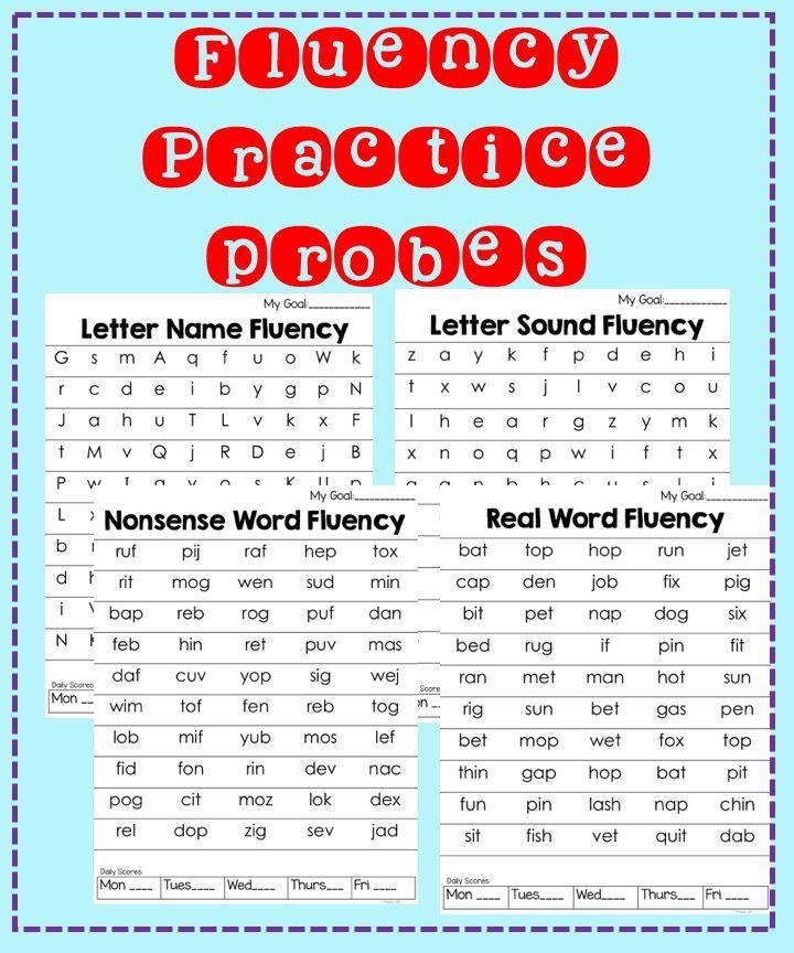 Fluency Practice Letter Names, Letter Sounds, and CVC