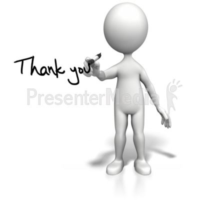 Stick Figure Drawing Thank You PowerPoint Clip Art | Stick Figures ...