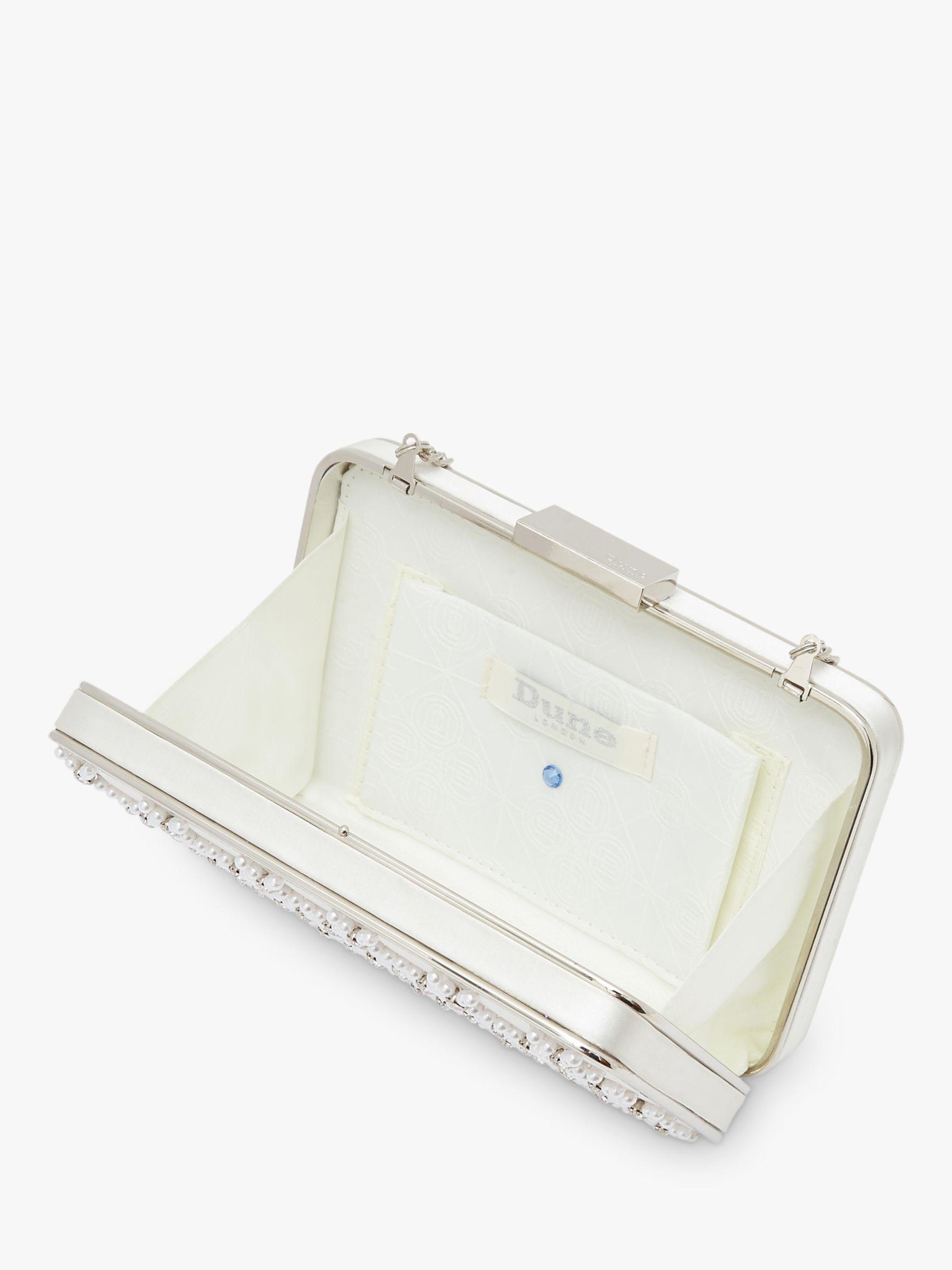 Dune Bridal Collection Believe Embellished Clutch Bag Ivorybag