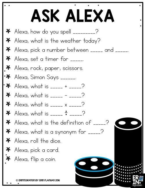 FREE DOWNLOAD FOR USING THE AMAZON ECHO DOT AND ALEXA IN THE CLASSROOM
