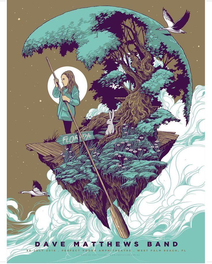 dave matthews band poster by ken taylor illustration