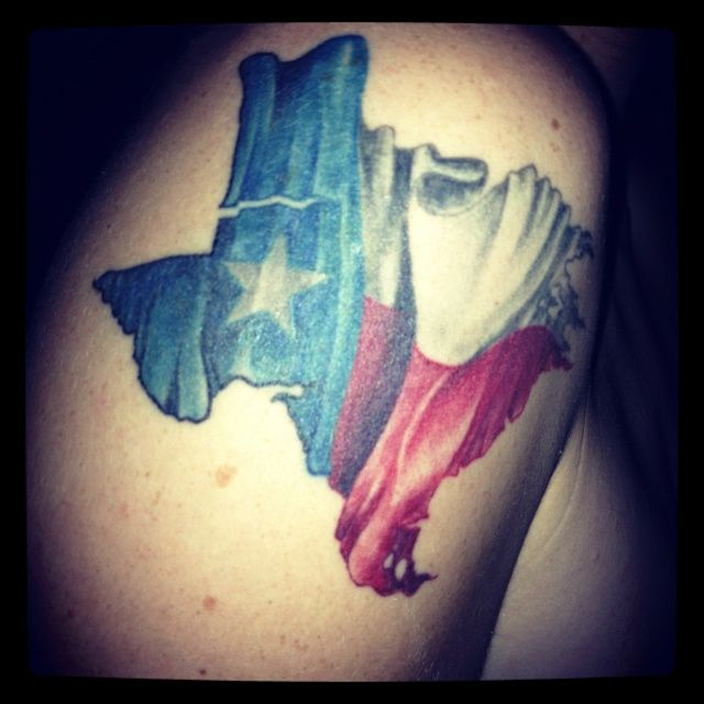 Texas Flag Tattoo on Pinterest | Texas Tattoos, Flag Tattoos and ...
