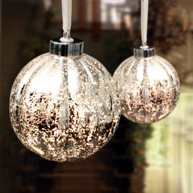 Hanging Antique Silver Bauble Lamp Kitchen  Dining Room