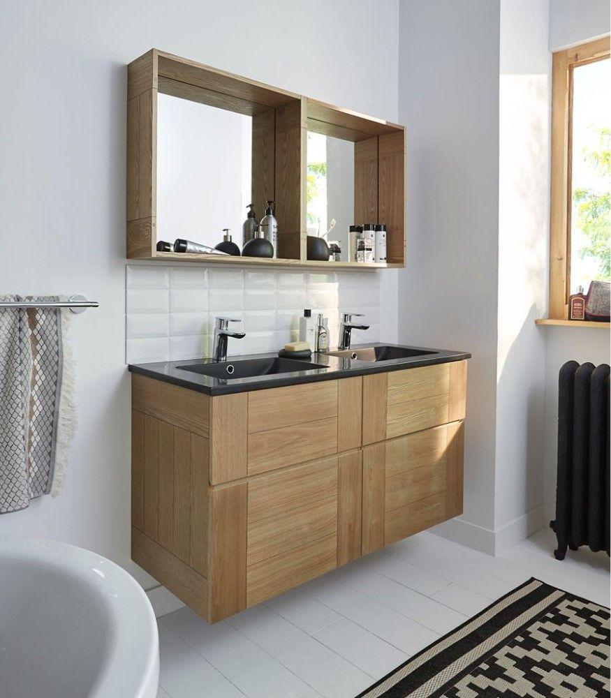 Ensemble de salle de bains Essential 19 cm noir - Meuble de salle