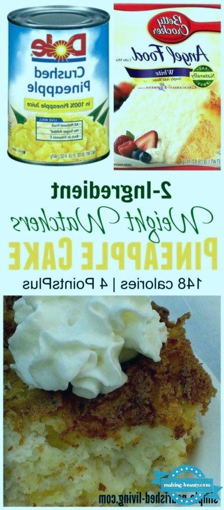 Weight Watchers 2-Ingredient Pineapple Angel Food Cake Weight Watchers 2-Ingredient Pineapple Angel Food Cake,