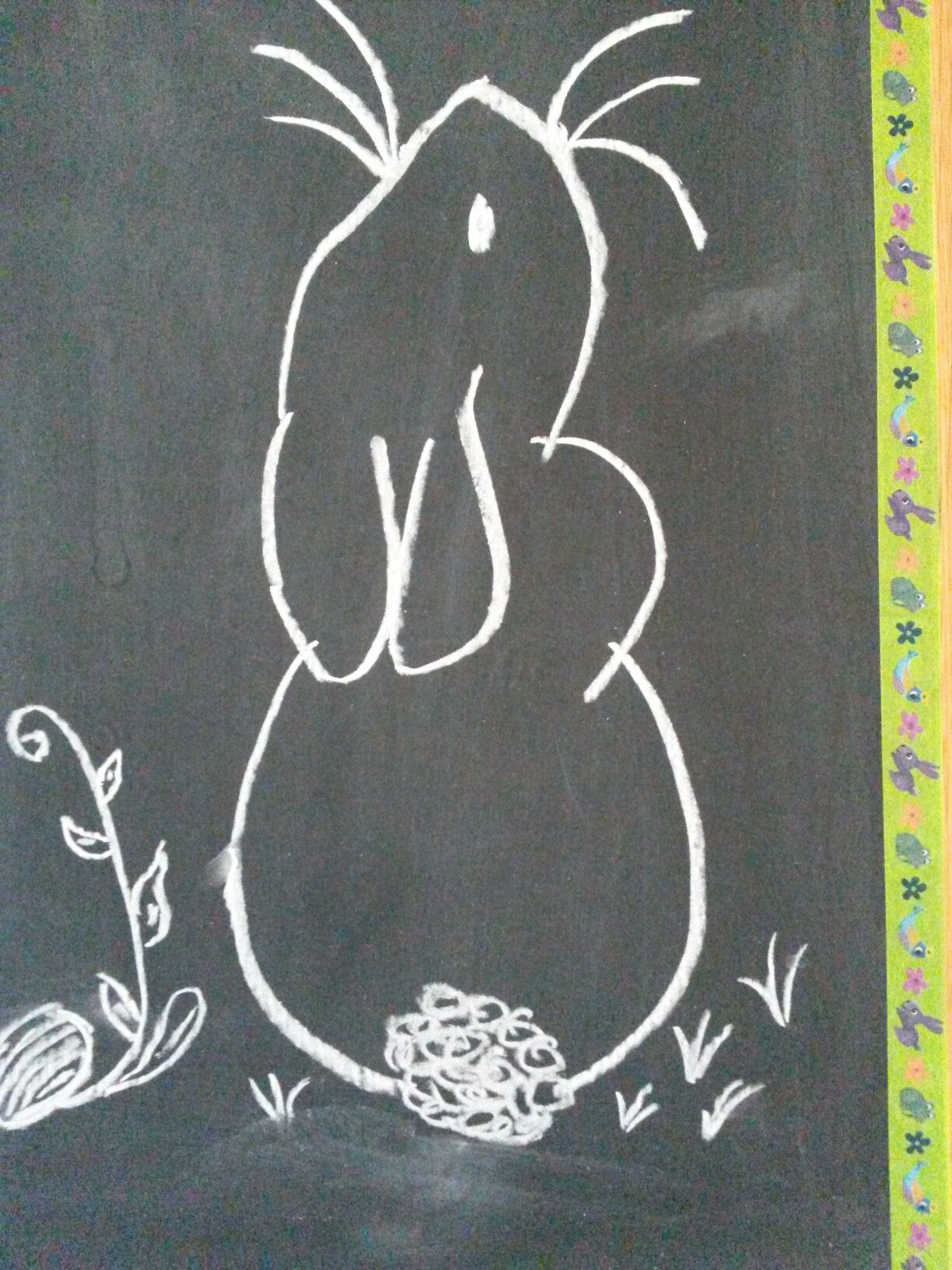 Lovely Chalkboard Bunny Redraw From Pinterest Chalkboard