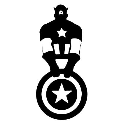 25++ Captain america clipart black and white information