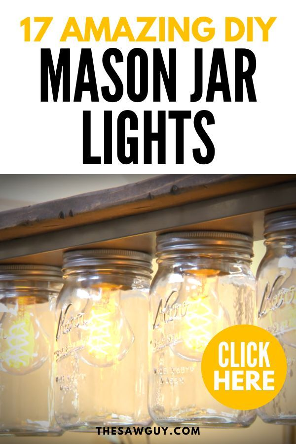 Check Out These 17 Amazing DIY Mason Jar Lights #masonjardecorating