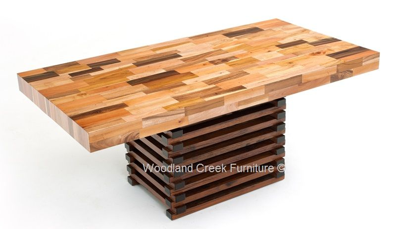 Sustainable Dining Table Butcher Block Design Reclaimed Dining