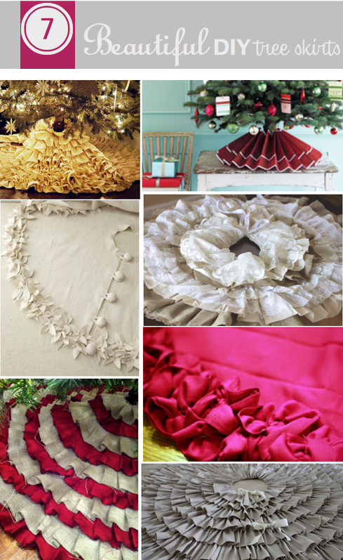 Do it yourself divas diy 7 beautiful tree skirts the other pin do it yourself divas diy 7 beautiful tree skirts the other pin with solutioingenieria Image collections