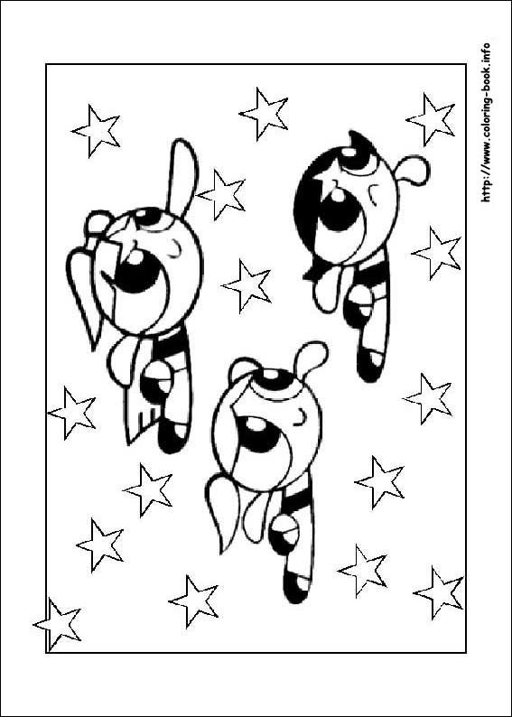 Powerpuff Girls coloring picture   dibujos   Pinterest