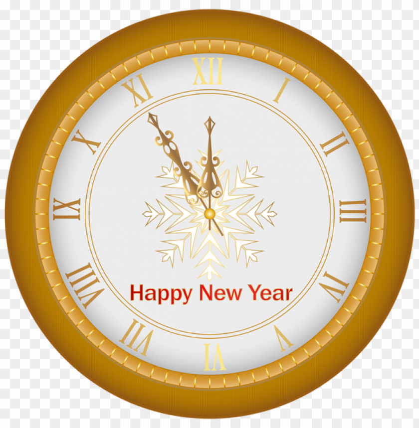 Happy New Year Clock Goldimage Png Image With Transparent Background Png Free Png Images New Year Clock Happy New Year Png Happy New Year