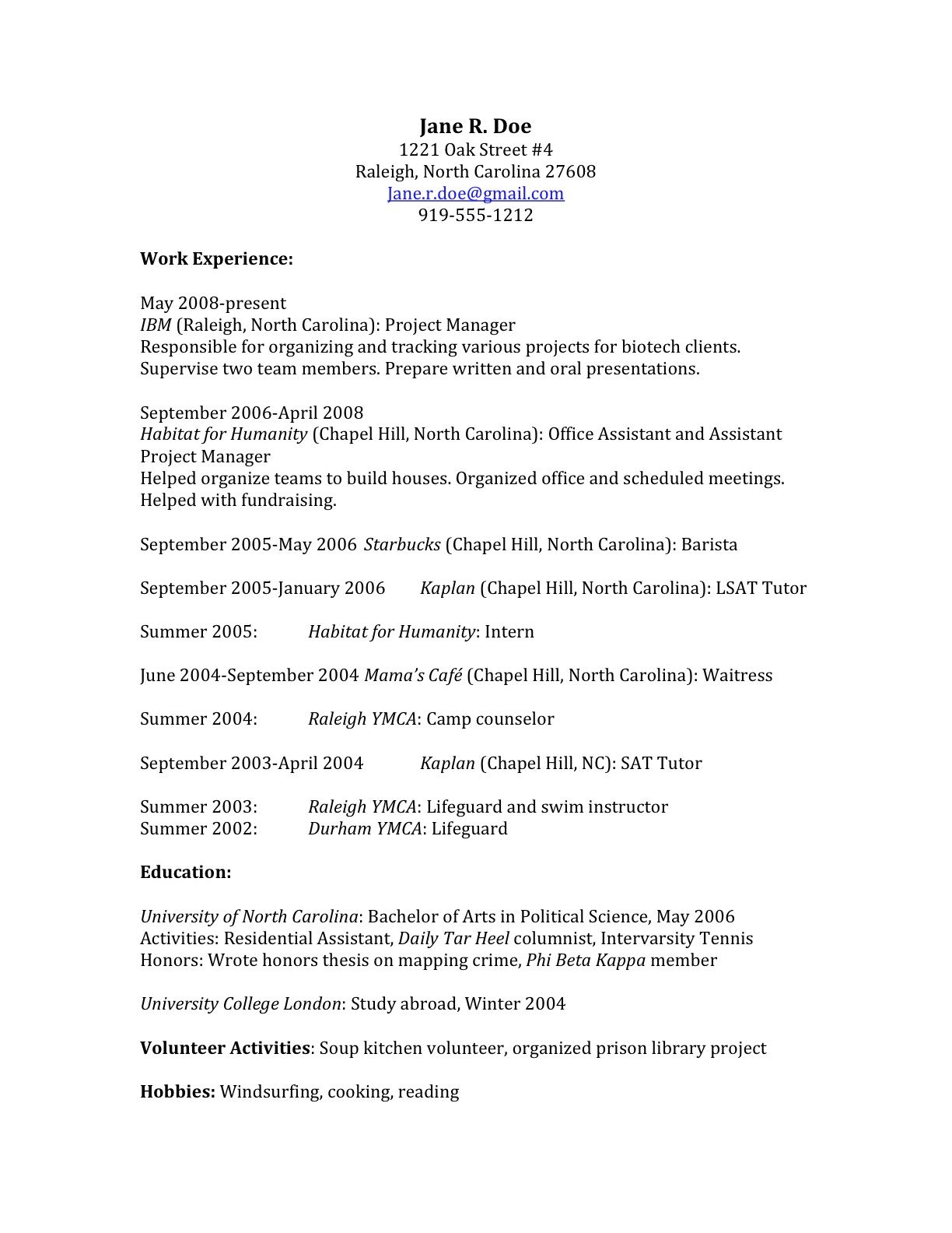 Resume How To Write An Application Letter For Volunteering