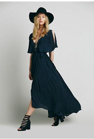 Free People Womens Fiona's Maxi Dress