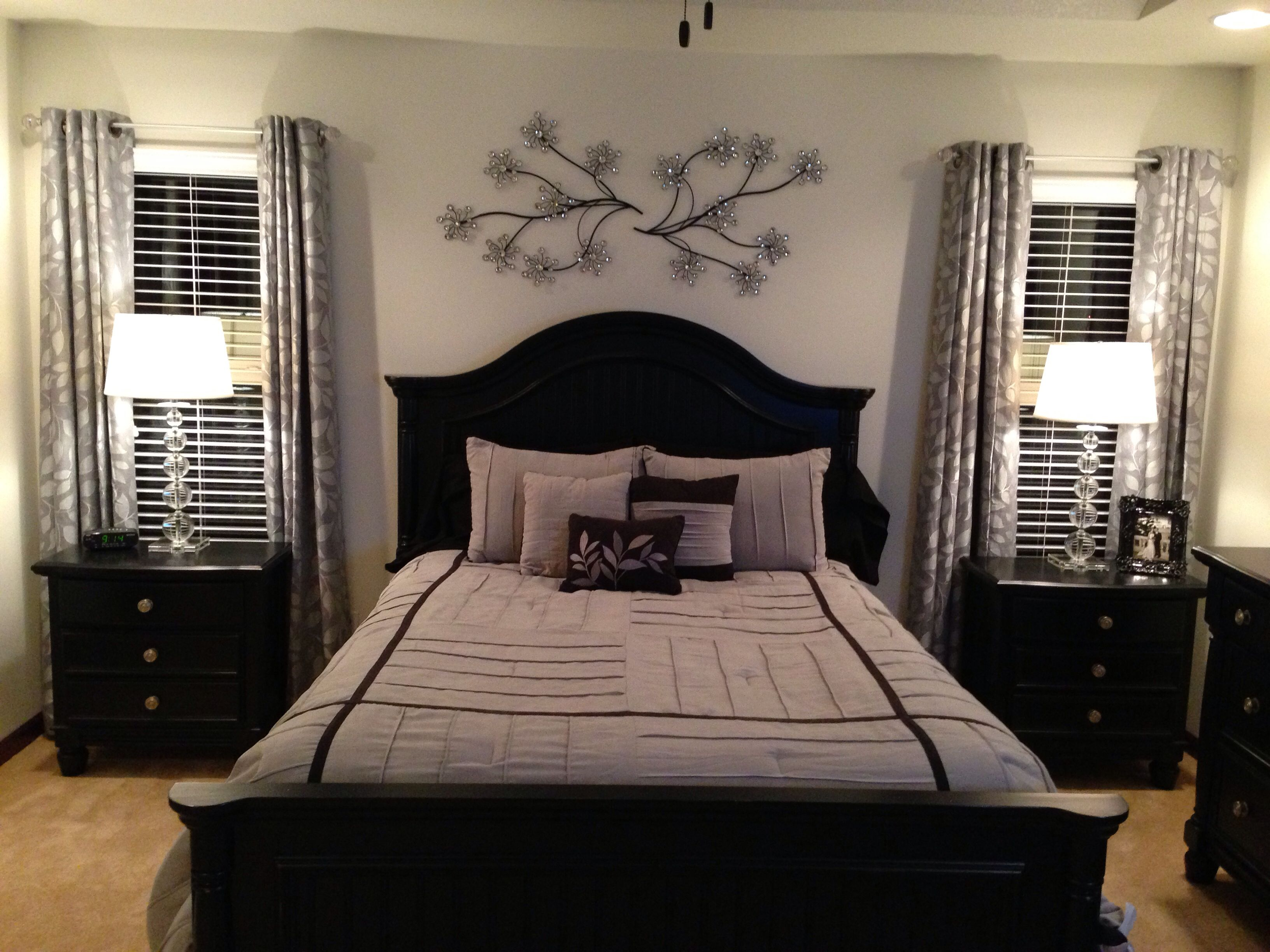 Burks Master Bedroom Furniture And Curtains From Jcpenney Lamps And Wall Art From Tj Max