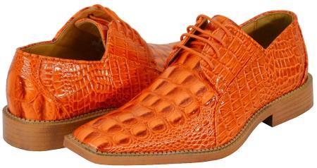 Orange Mens Dress Shoes $125