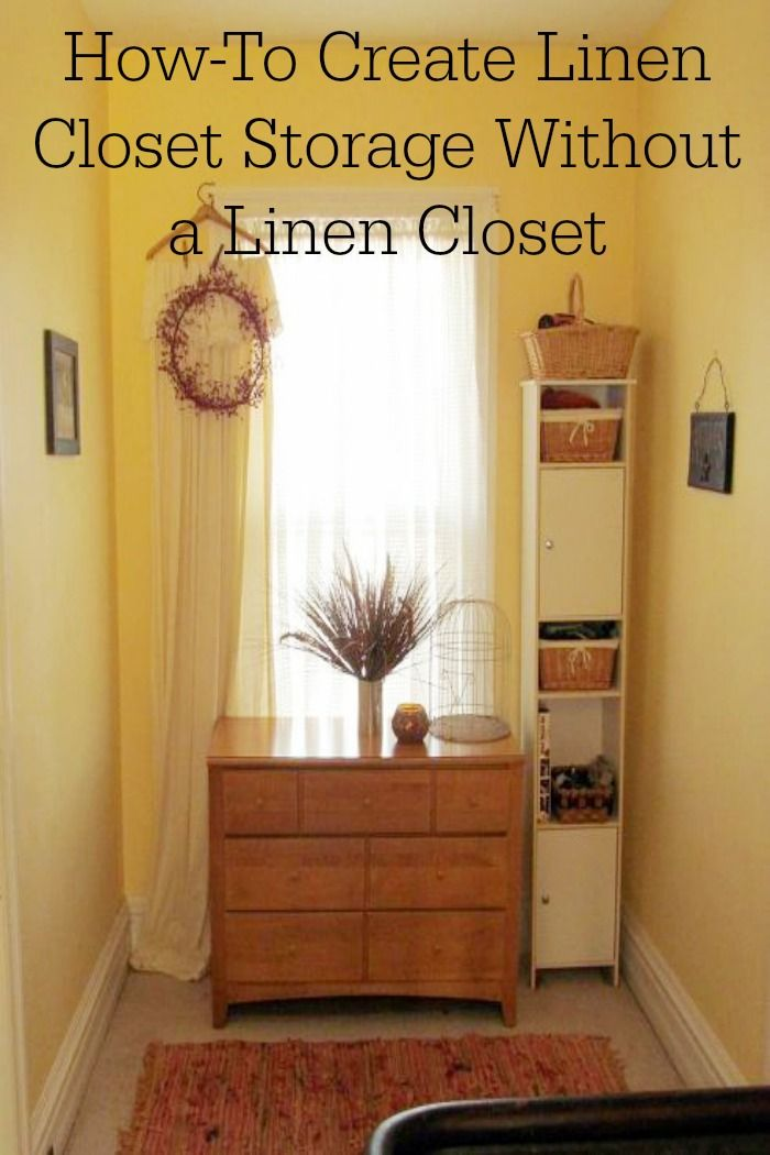 No Linen Closet Problem Create A E In Small Area Genius