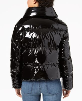 c6fe988859be2 Cropped Shiny Puffer Coat in 2019 | Products | Coat, Winter jackets ...
