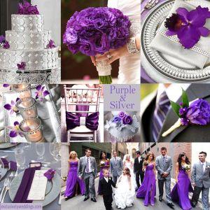 Purple Wedding Color Combination Options Silver Wedding