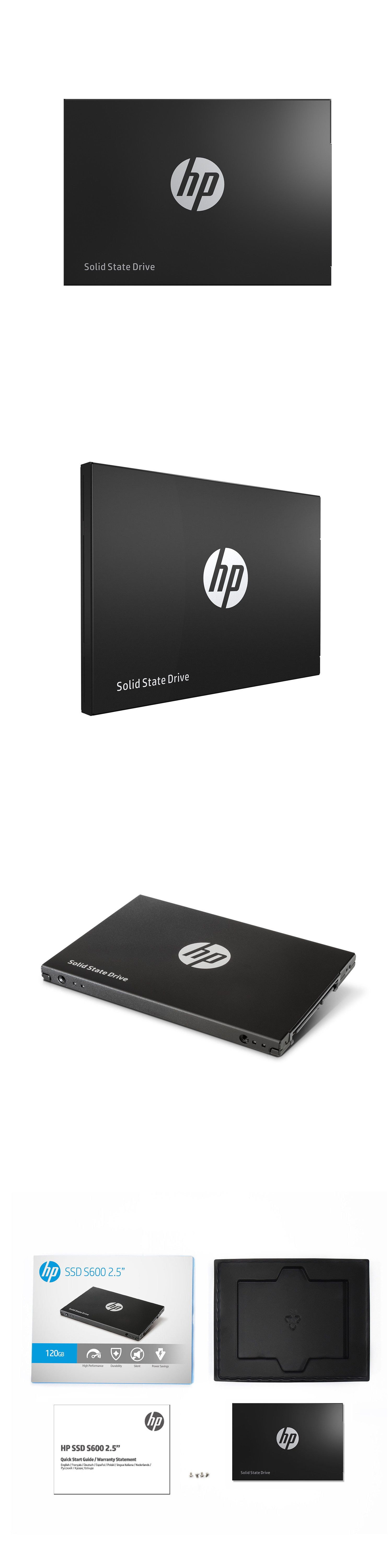 Solid State Drives 175669: Hp S600 Ssd 120Gb Sata Iii 3D Nand 2 5
