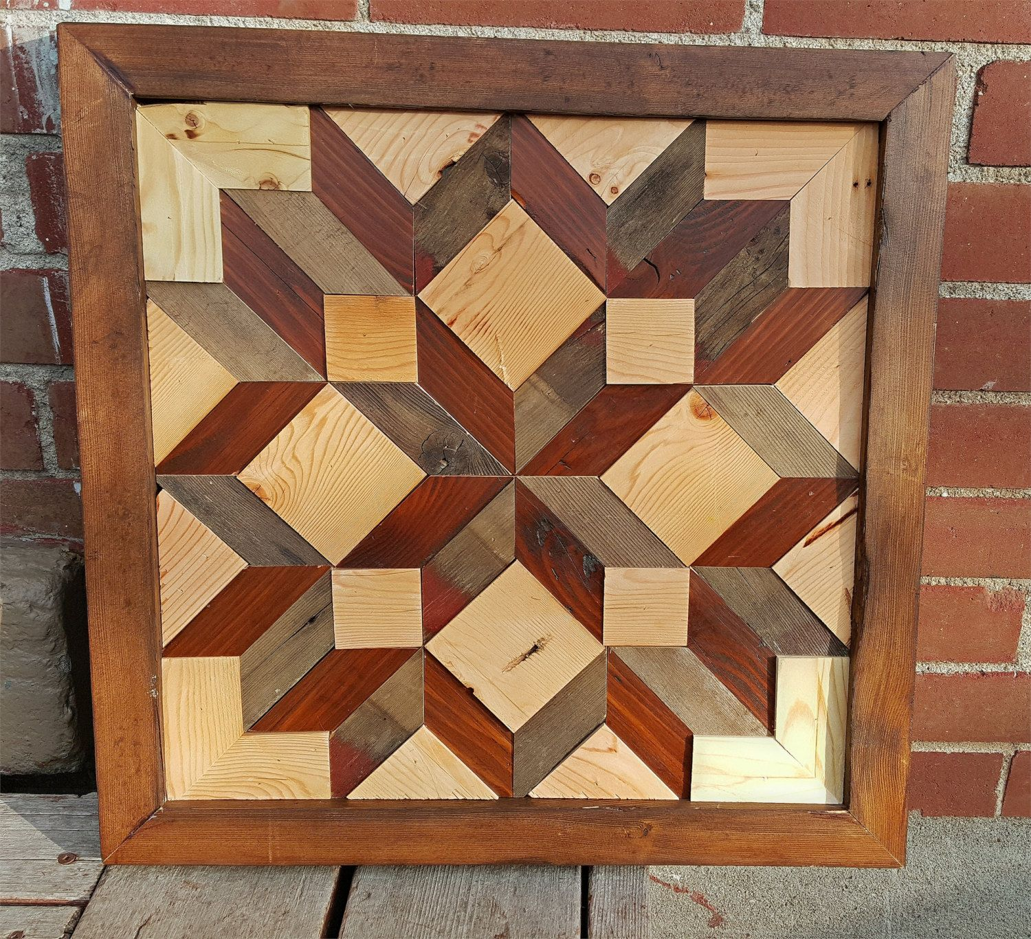 Salvaged Wood Two Tone Barn Quilt Quilting Pattern