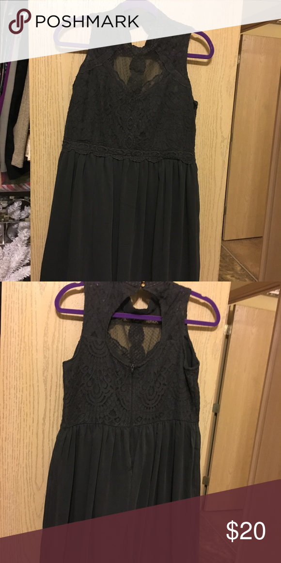 130ba74815 Grey Lace Cocktail Dress Dark grey lace/chiffon dress, knee-length.  Purchased from Target, never worn. In perfect brand new condition Dresses  Midi