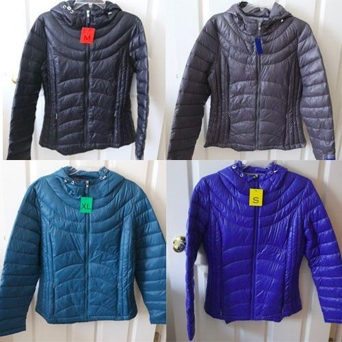 NEW Andrew Marc Womens Packable Lightweight Down Jacket Coat size ...