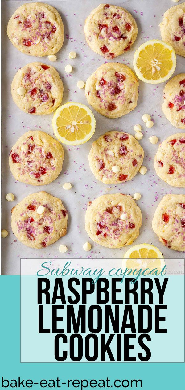Raspberry Lemonade Cookies (Subway Copycat) #raspberrylemonade