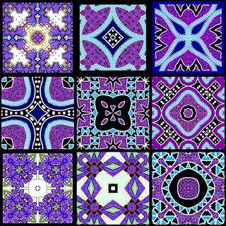 Free Tea Bag Tiles Artbyjean Tea Bag Tiles Block Of Nine Tea Bag Tiles Purple Patterns