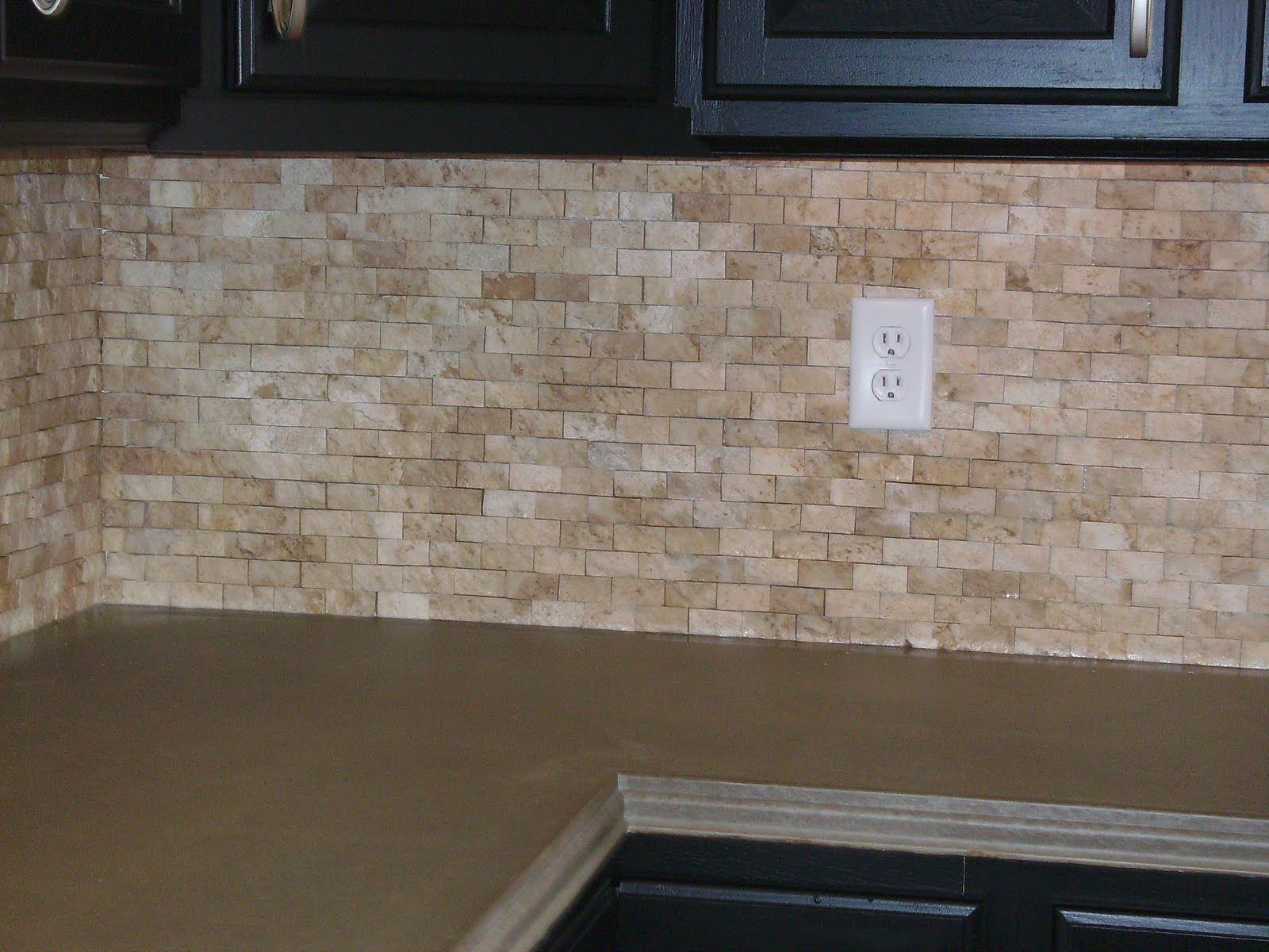 Stacked Stone Kitchen Backsplash Island With Folding Leaf Travertine Split Face Knapp Tile And Flooring