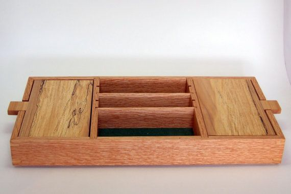 VALET BOX for MEN Wood Valet Box Dresser Organizer Desk