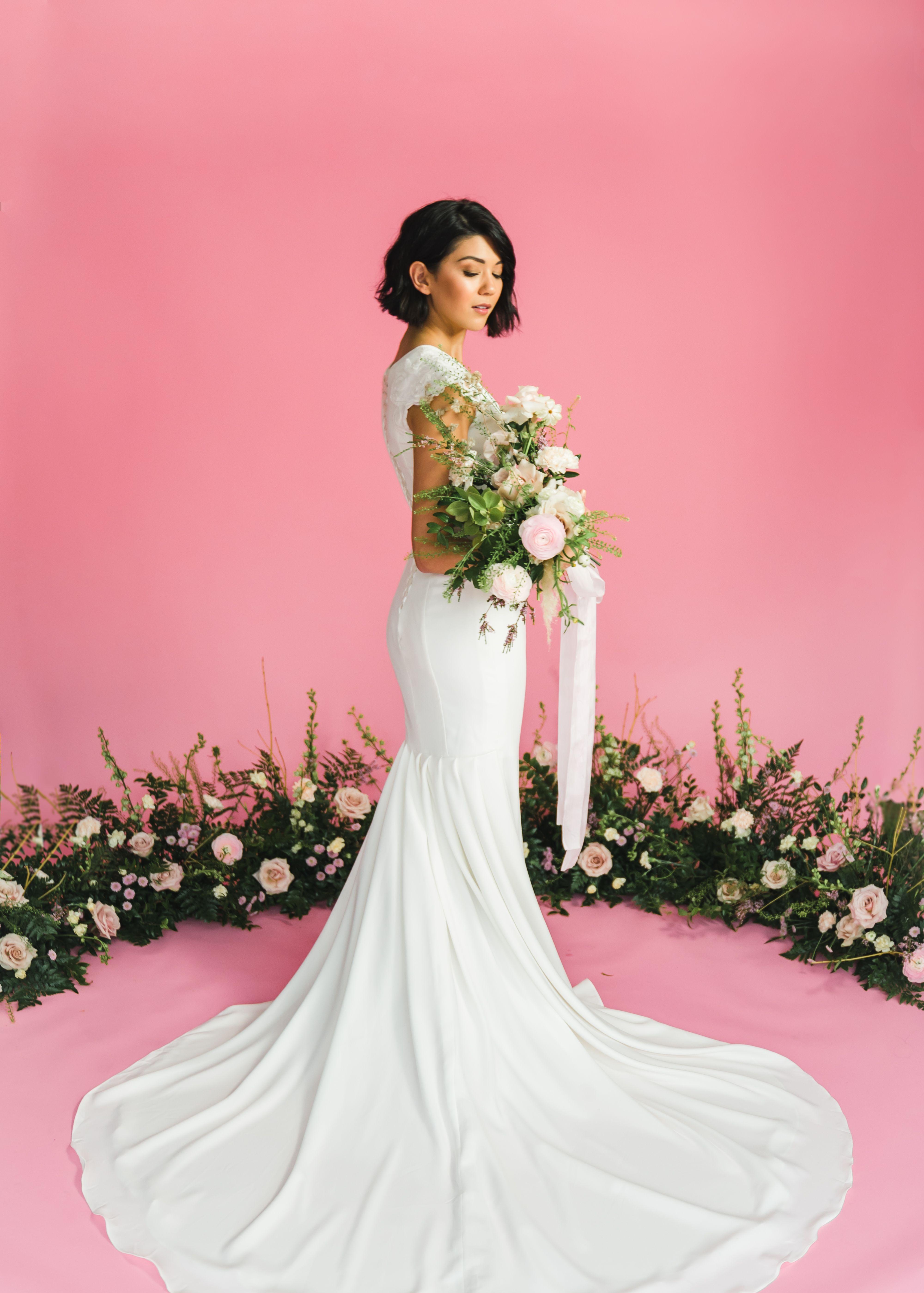 Madeleine gown by Elizabeth Cooper Design modest wedding