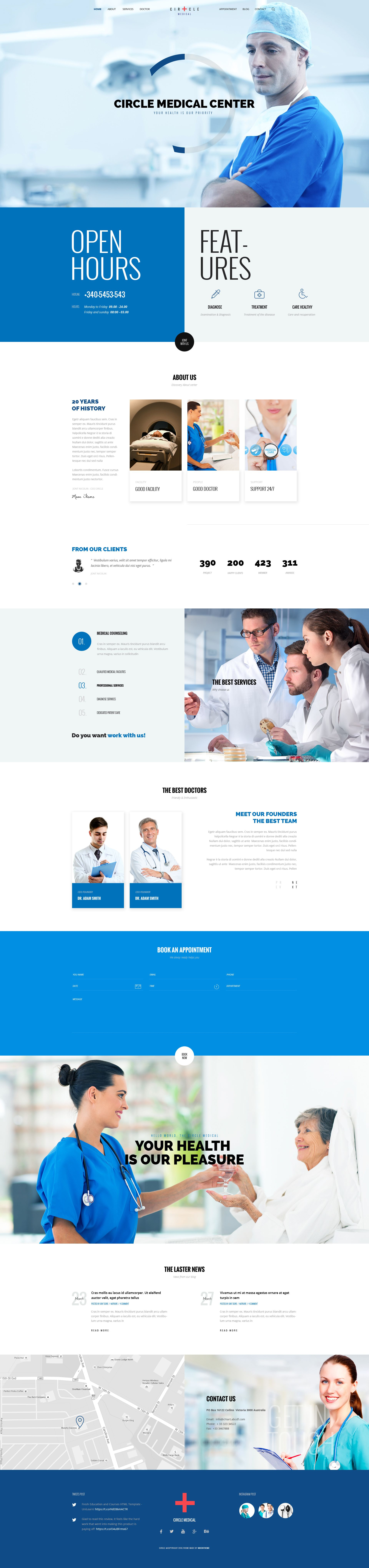 """""""CIRCLE – Creative Multipurpose PSD Template"""" is modern, clean, multiple functions and professionally. It has 42 homepage layouts and 25 Online store layout Options! This template suits for any t..."""
