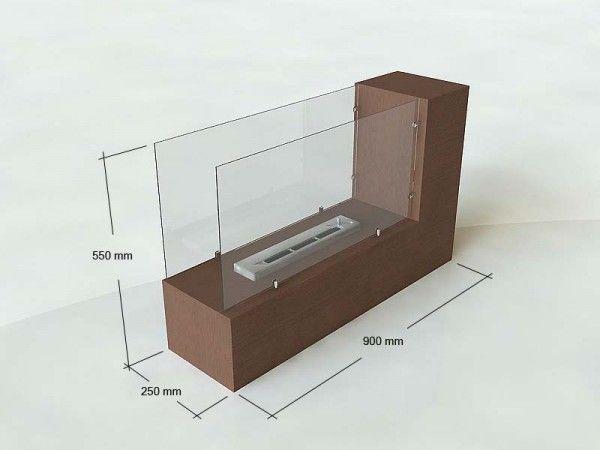 Modelo gentle chimenea bioetanol de suelo medidas y - Chimeneas de biotanol ...