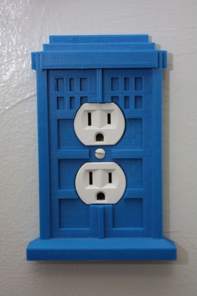 Doctor Who Tardis Wall Receptacle Plug Outlet Cover - Home Decor ...