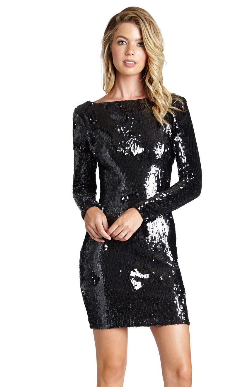 9bf18e7c65 Main Image - Dress the Population  Lola  Backless Sequin Minidress  (Nordstrom Exclusive)