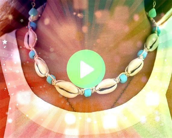 Shell Necklace Cowrie Shell Choker beach jewelry for women NecklaceNecklace Cowrie Shell Necklace Cowrie Shell Choker Cowrie Necklace Cowrie Choker Cowrie Shell Jewelry S...