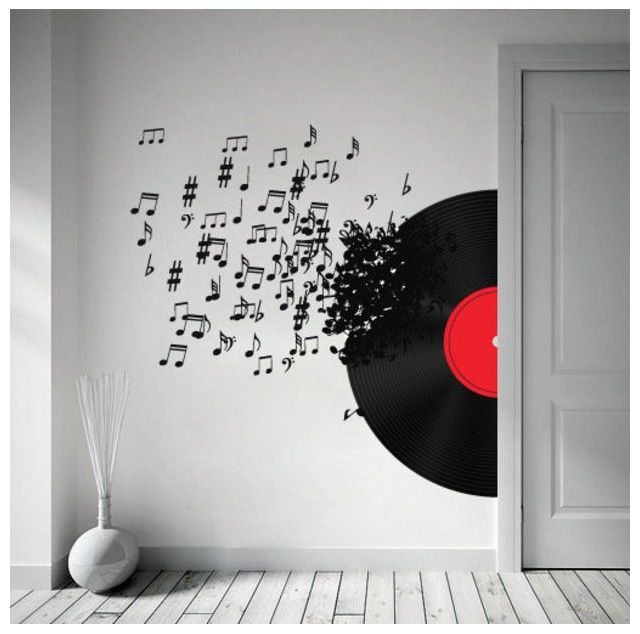 Musical Wall Decal Music Bedroom Music Decor Music Room