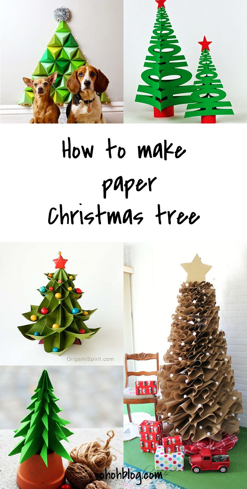 Diy to try paper christmas tree craft holidays and tutorials