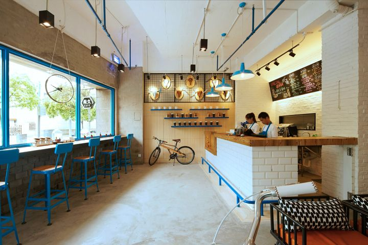 Yong jiu bike caf by kyle chan shanghai china cafe for Hae yong interior designs