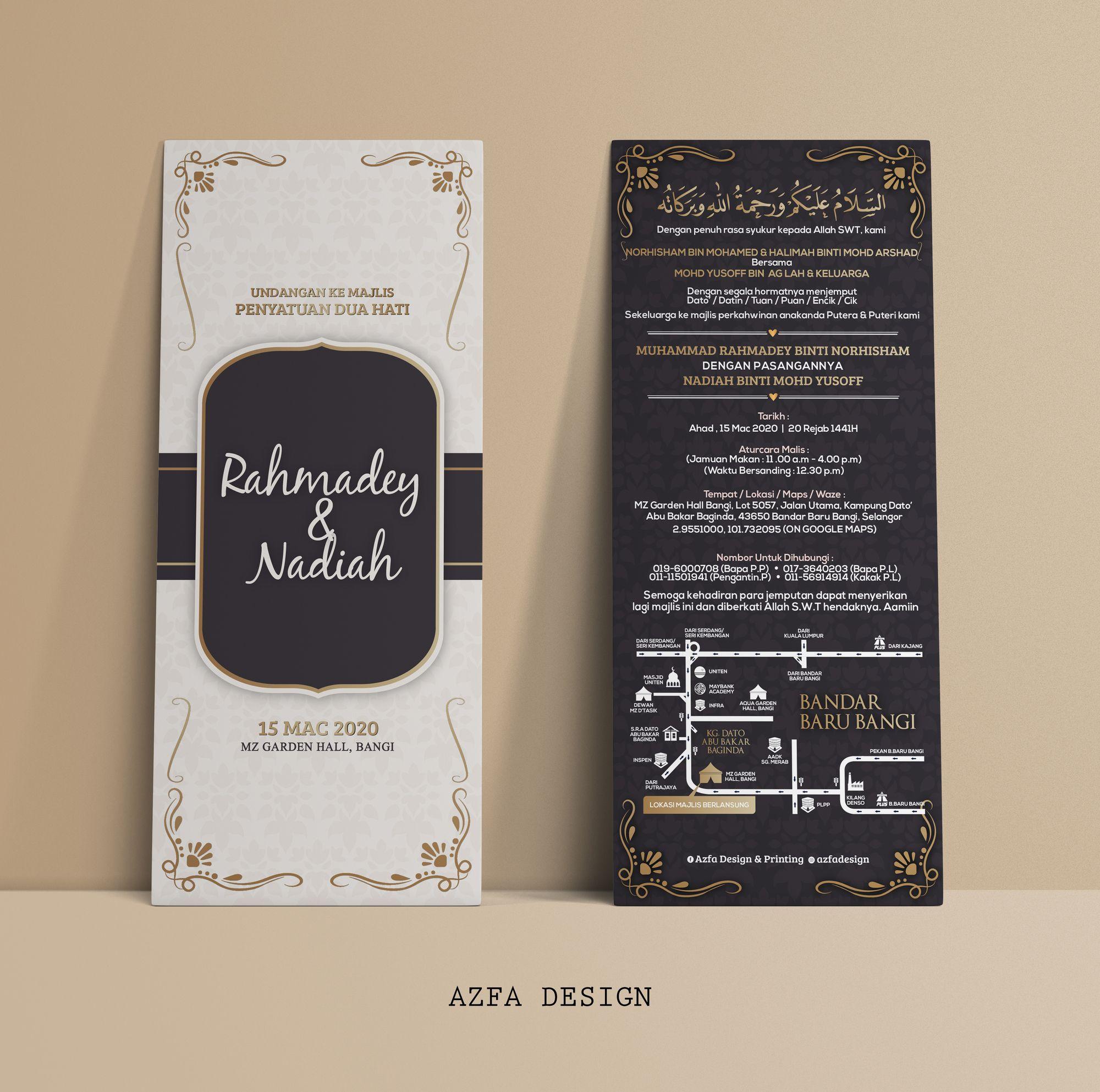 Azfadesign Kadkahwin Jangan Lupa Jemput Tetamu Tempah Kad Kahwin Anda Banyak Sanga Invitation Cards Cards Invitations